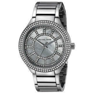 Michael Kors Women's MK3410 Kerry Diamond Grey Dial Gunmetal Stainless Steel Bracelet Watch