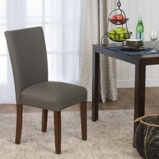 HomePop Parson Dining Chair- Textured Everly Truffle - Single