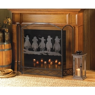 Horseback Riding Fireplace Screen