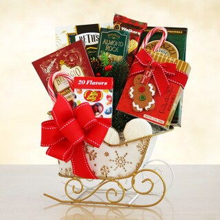 California Delicious Holiday Sleigh of Sweets Gift Basket