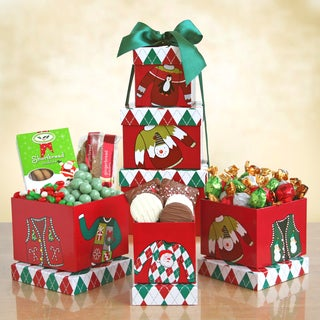 California Delicious Holiday 'Ugly Sweater' Snack Tower