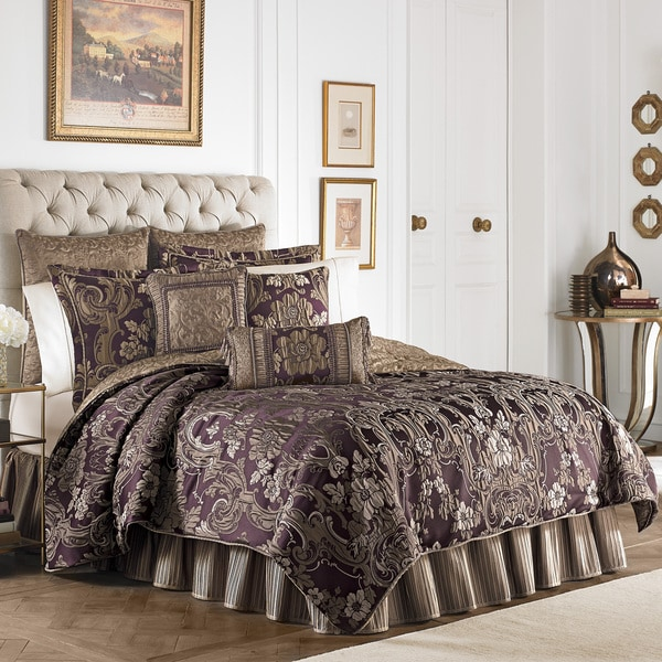 Croscill Everly Plum And Gold 4 Piece Comforter Set