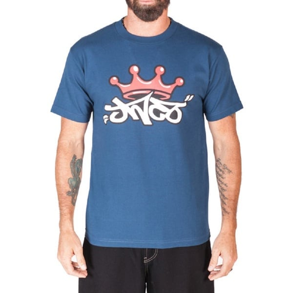 JNCO Men's Blue Crown Graphic T-Shirt