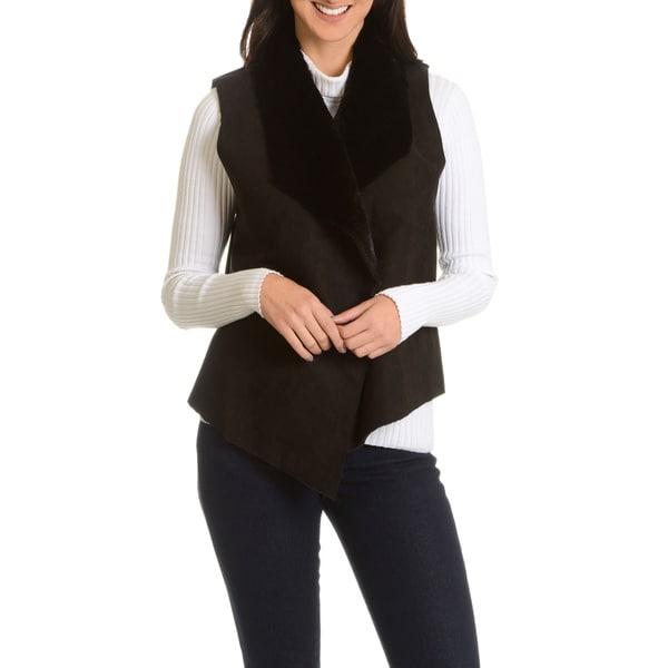 Amanda Charles Women's Drape Faux Fur Vest
