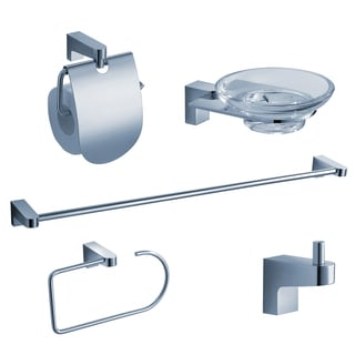 Fresca Generoso Brass 5-piece Chrome Bathroom Accessories Set