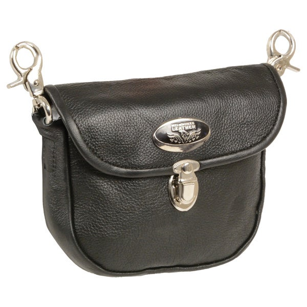 Leather Belt Bag With Quick Release and Belt Clasps