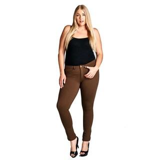 Women's Plus Size Strech Pants BE1208BD-804RUST