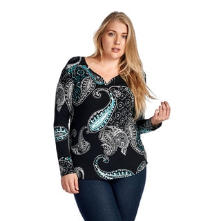 Women's Plus Size Long Sleeve Blouse