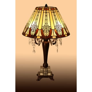Karly 4-light Tiffany-style 16-inch Crystal Table Lamp