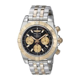 Breitling Men's CB014012-BA53 'Chronomat 41' 18 Kt Rose Gold Chronograph Automatic Two-Tone Stainless Steel Watch