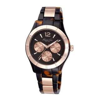 Kenneth Cole Women's KC0003 'Classic' Multi-Function Two-Tone Stainless Steel Watch