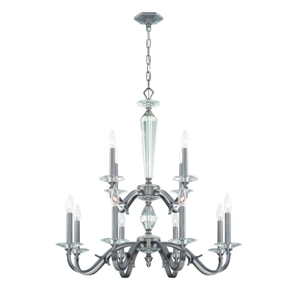 Crystorama Hugo Collection 12-light Pewter Chandelier
