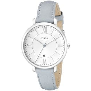 Fossil Women's ES3821 'Jacqueline' Blue Leather Watch