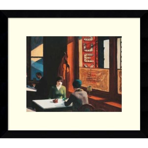 Edward Hopper 'Chop Suey' Framed Art Print 15 x 13-inch
