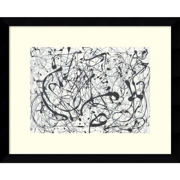 Jackson Pollock 'Number 14:Gray' Framed Art Print 16 x 13-inch