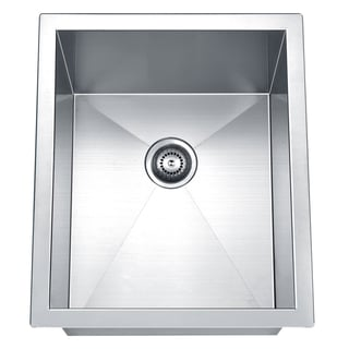 Dawn Undermount Polished Stainless Steel Square Single Bowl Bar Sink