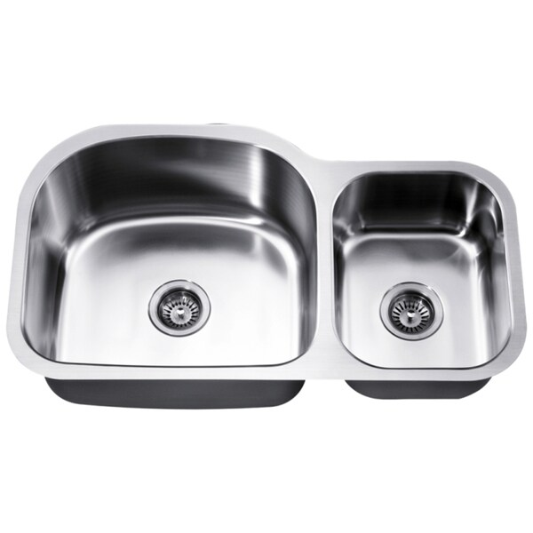 Dawn Undermount Stainless Steel Double Bowl Sink (Small Bowl On Right)