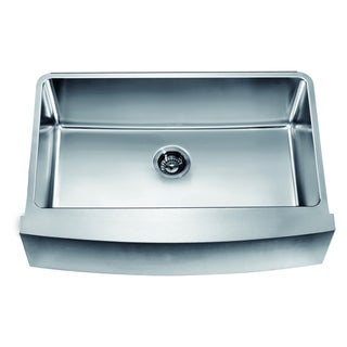 Dawn Undermount Single Bowl with Curved Apron Front Sink
