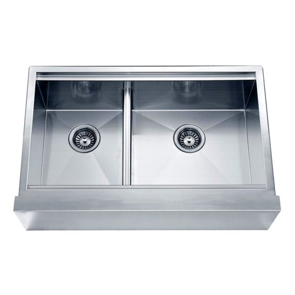Small Apron Front Sink : ... Sink Double Bowl Stainless Steel Kitchen Sink Apron Front Double Basin
