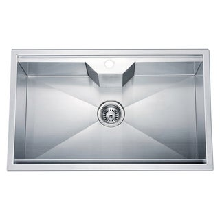 Dawn Dual Mount Single Bowl Square Sink with 1 Hole