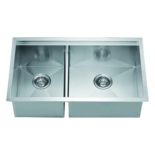Dawn Undermount Double Bowl Square Sink (Small Bowl On Left)
