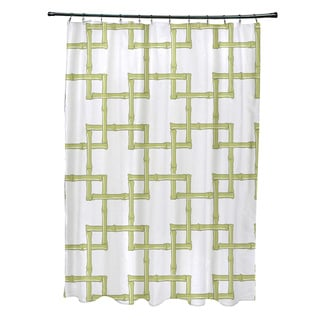 71 x 74 Bambies 2 Geometric Print Shower Curtain