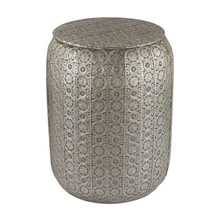 Sterling Pierced Metal Work Stool