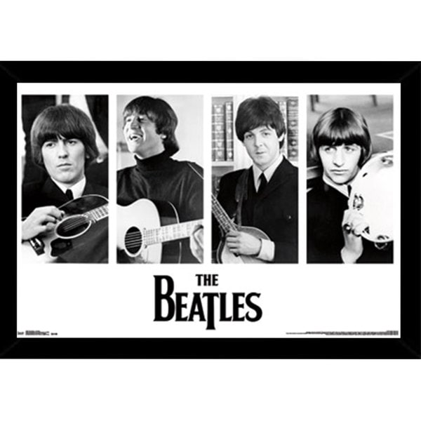 The Beatles Portraits Print (34-inch x 22-inch) with Traditional Black Frame