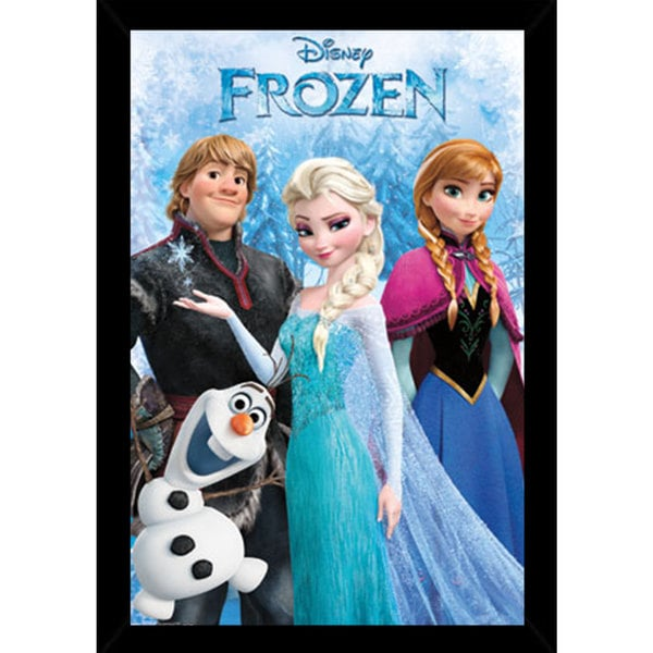 Frozen Group Print (22-inch x 34-inch) with Traditional Black Frame