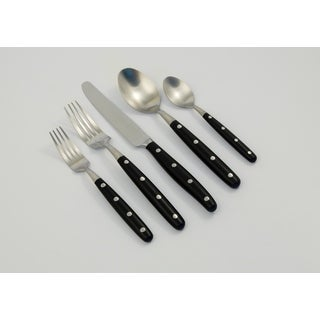 Ginkgo International Lyon 20-piece Stainless Steel Flatware Place Setting, Service for 4