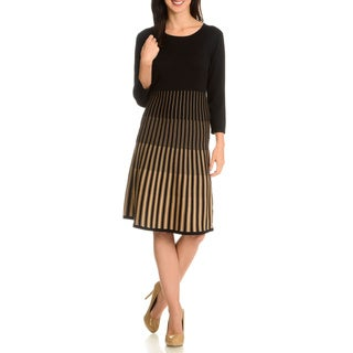 Nina Leonard Women's Single Side Inset Dress