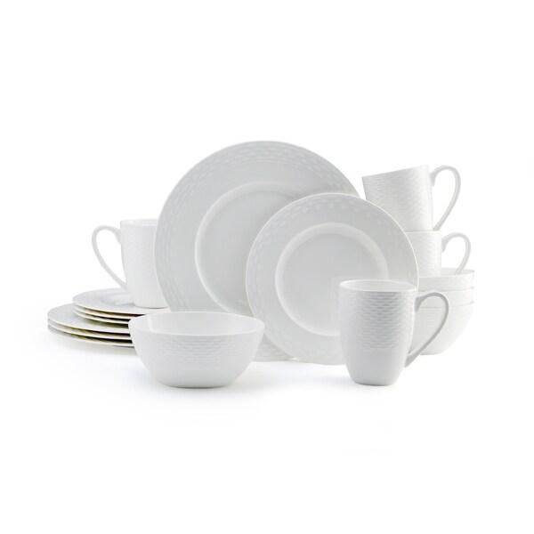 Mikasa Ortley 16-piece Dinnerware Set Bone China Round White 16521921
