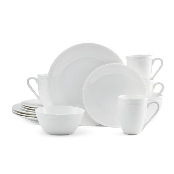 Mikasa Loria 16-piece Dinnerware Set Bone China Round White