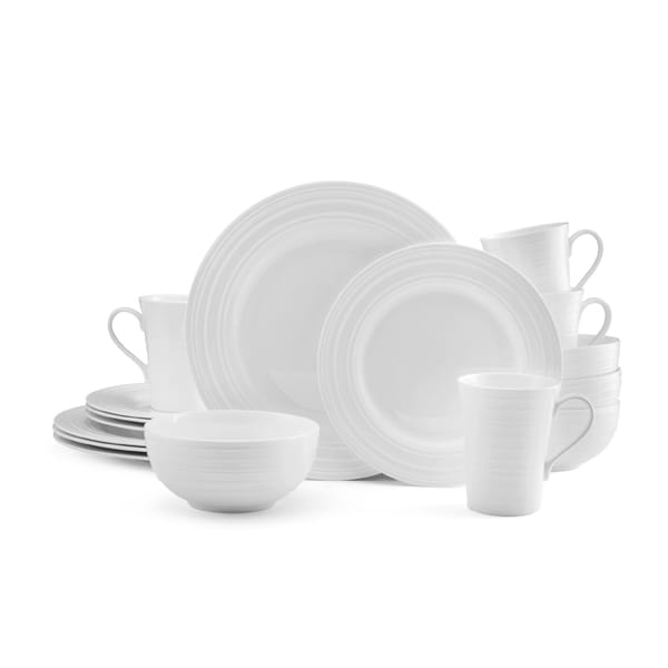 Mikasa Ciara 16-piece Dinnerware Set Bone China Round White