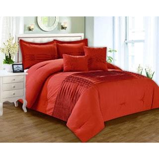 Astoria Pin tuck Pleated 5-piece Comforter Set
