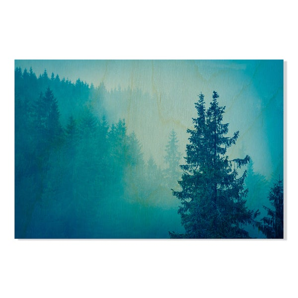 misterious forest Print on Birchwood Wall Art