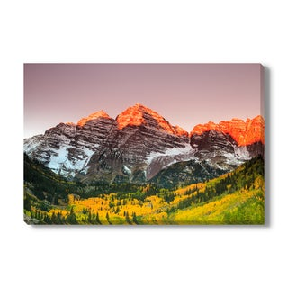 Maroon Bells on Canvas Gallery Wrap