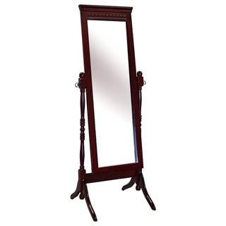 The Fairfax Mahogany Cheval Mirror