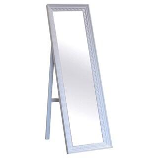 The Cambridge White Cheval Mirror