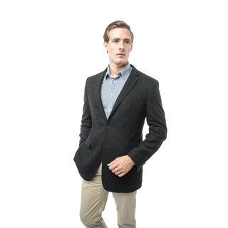 Verno Giraldi Men's Dark Charcoal Grey Classic Fit Wool Blazer