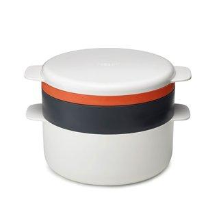 Joseph Joseph M-Cuisine 4-Piece Stackable Orange/Beige Microwave Cooking Set