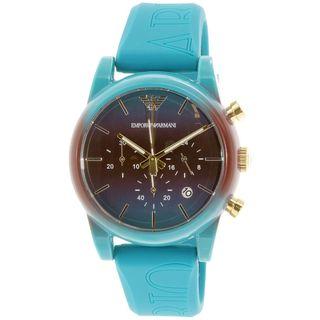 Emporio Armani Men's AR1062 'Luigi' Chronograph Blue Silicone Watch