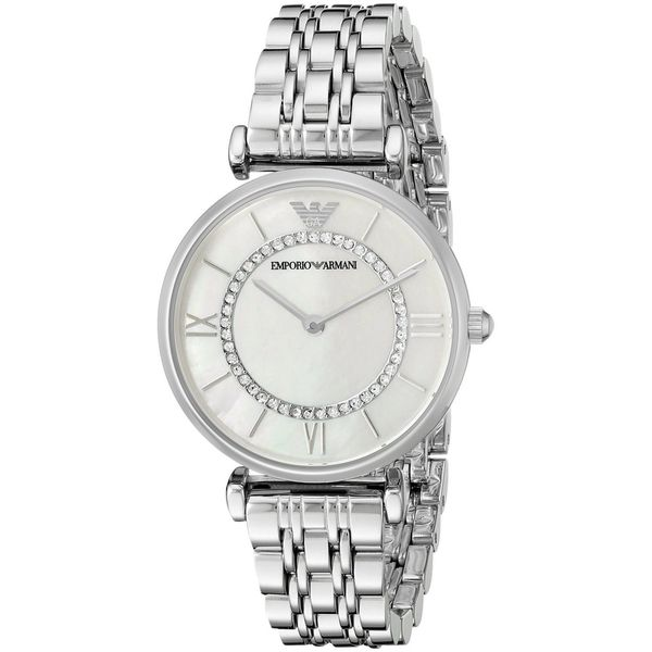 Emporio Armani Women's AR1908 'Classic' Crystal Stainless Steel Watch