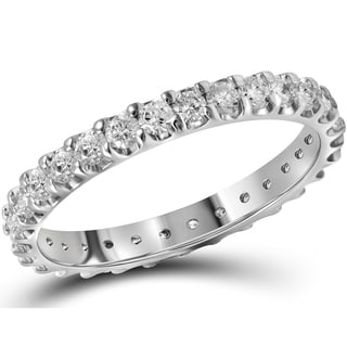 10k White Gold 1ct TDW Diamond Eternity Ring (G-H, I1-I2)