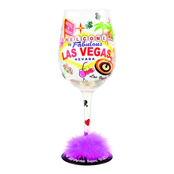 Las Vegas Wine Glass