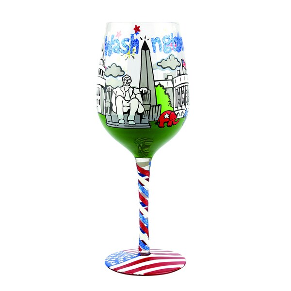Washington DC Wine Glass