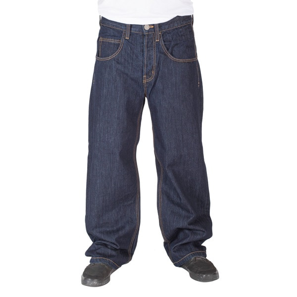 JNCO Men's Black Jeans Rinse Wash Smoke Stacks