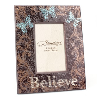 Butterfly Mosaic 'Believe' 4x6 Picture Frame