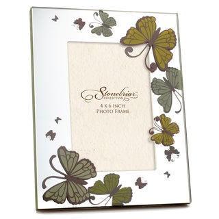 Mirrored Olive Butterfly Picture Frame