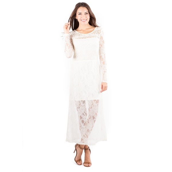 Women's Lace Long Sleeve Beverwil Dress